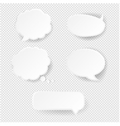 speech bubble set transparent background vector image