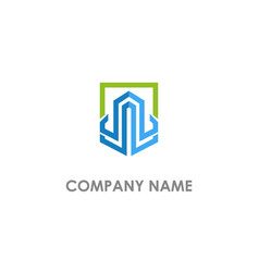 square line building business logo vector image