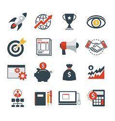 startup business icon flat design vector image