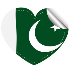 Sticker design for pakistan flag vector