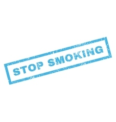 Stop Smoking Rubber Stamp vector
