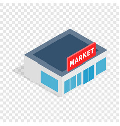 supermarket building isometric icon vector image