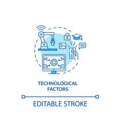Technological factors concept icon vector