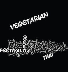 Thailand s vegetarian festival text background vector