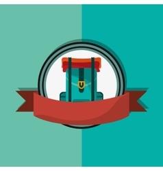 Travel backpack emblem image vector