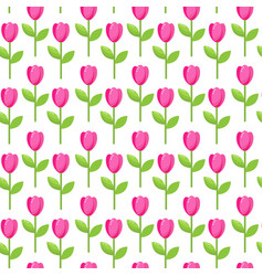 Tulip pink pattern vector
