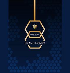 Vertical modern template layout design for honey vector
