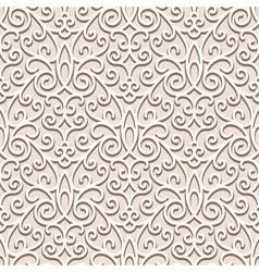 Vintage beige pattern vector