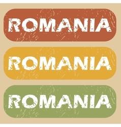 Vintage Romania stamp set vector