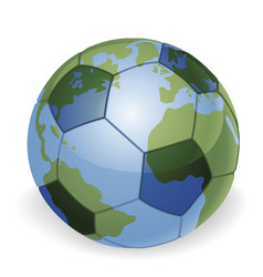 World globe soccer ball concept vector