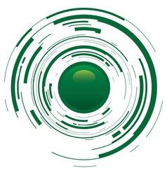 abstract broken button vector image