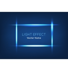 Blue Line Frame Made with Light Effect vector image