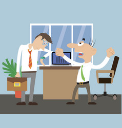 director scolds employee vector image