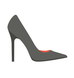 elegant classic black stiletto shoe isolated vector image vector image
