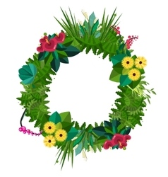 flat colorful circular floral wreaths vector image vector image