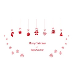 Happy toys in red colors vector image