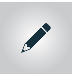Pencil icon flat design vector image vector image