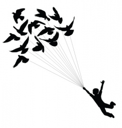 Pigeon boy vector