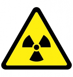 radiation triangular sign vector image vector image