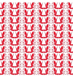 Red and white repeating patterns vector image