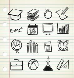 sketchy education vector image vector image