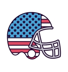 american football with flag usa isolated icon vector image