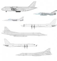 combat aircraft vector image