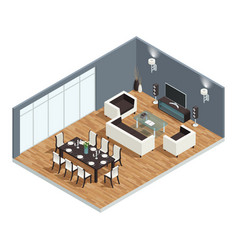 dining room concept vector image vector image