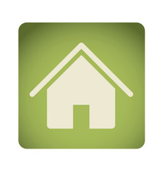 green emblem house icon vector image vector image