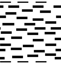 Rectangle black chaotic seamless pattern vector image vector image