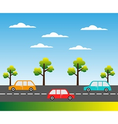 Street background vector image vector image