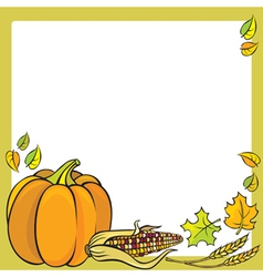 Thanksgiving frame vector