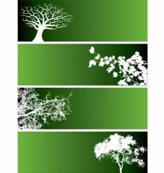 tree web banners vector image