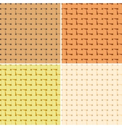 4 seamless braided pattern vector image