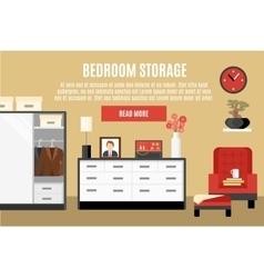 Bedroom Storage vector image