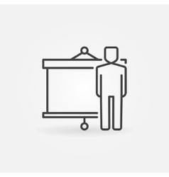 Businessman and presentation icon vector image