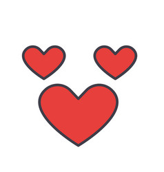heart love concept line icon editable vector image vector image