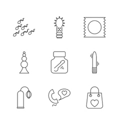 Sex shop icons vector image
