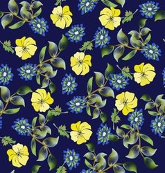 summer fashion background Floral seamless pattern vector image