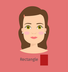 woman face type rectangle vector image