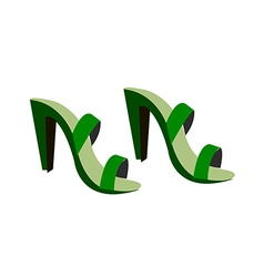A view of a shoes vector image vector image