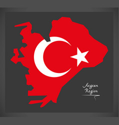 Aegean region turkey map vector