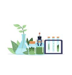 Alternative traditional medicine concept tiny vector