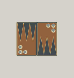Backgammon board game table game vector