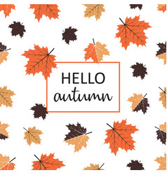 background hello autumn vector image