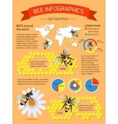 Bee infographics set vector image