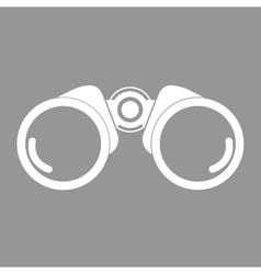 Binocular flat icon vector