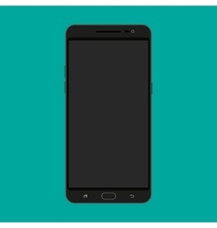 Black modern touch screen smartphone vector image