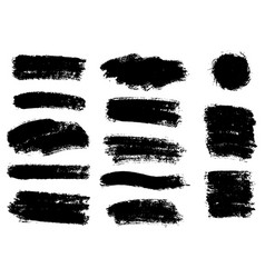 Black paint ink brush stroke brush line or vector