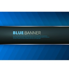 blue background with banner place vector image